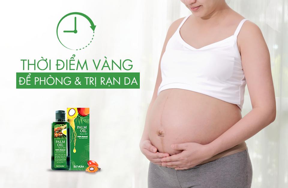 Thời điểm bắt đầu chống rạn cho mẹ bầu và sau sinh ?